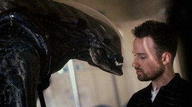 David Fincher sul set di Alien 3