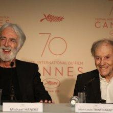 Happy End: Michael Hanele e Jean-Jouis Trintigrant in conferenza a Cannes