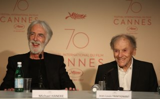 Happy End: Michael Hanele e Jean-Jouis Trintigrant in conferenza a Cannes