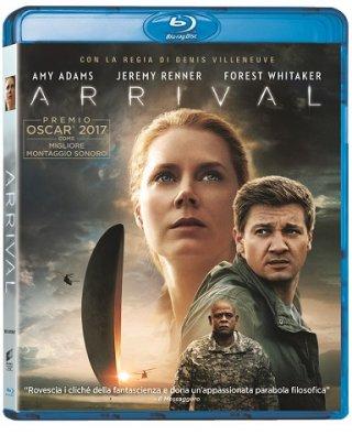 La cover del blu-ray di Arrival
