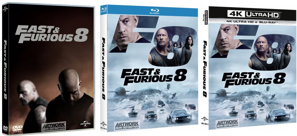 Le cover home video di Fast & Furious 8
