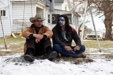 Jeremy Renner in Wind River - una scena del film