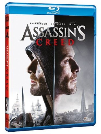La cover del blu-ray di Assassin's Creed
