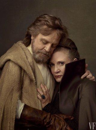 Star Wars: Gli ultimi Jedi - Mark Hamill e Carrie Fisher in una foto di Vanity Fair