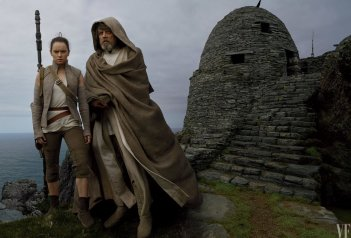 Star Wars: Gli ultimi Jedi - Daisy Ridley e Mark Hamill in una foto di Vanity Fair