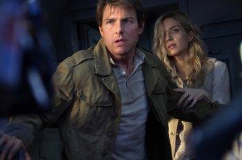 La Mummia: Tom Cruise e Annabelle Wallis in un momento del film