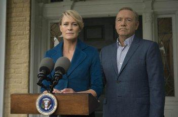 House of Cards: Kevin Space e Robin Wright nella quinta stagione della serie