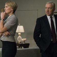 House of Cards: Robin Wright e Kevin Space  nella quinta stagione della serie
