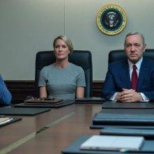 House of Cards: una scena con Kevin Space e Robin Wright