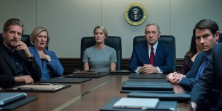 House of Cards: una scena con Kevin Space e Robin Wright
