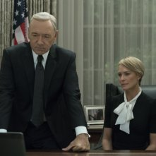 House of Cards: Kevin Space insieme a Robin Wright