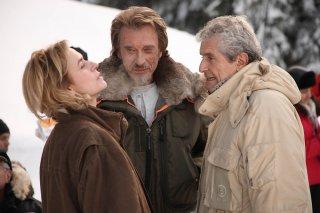 Parliamo delle mie donne: Sandrine Bonnaire, Johnny Hallyday e il regista Claude Lelouch sul set del film