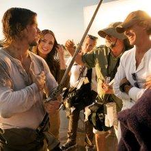 Transformers - L'ultimo cavaliere: Mark Wahlberg, Michael Bay e Laura Haddock sul set del film