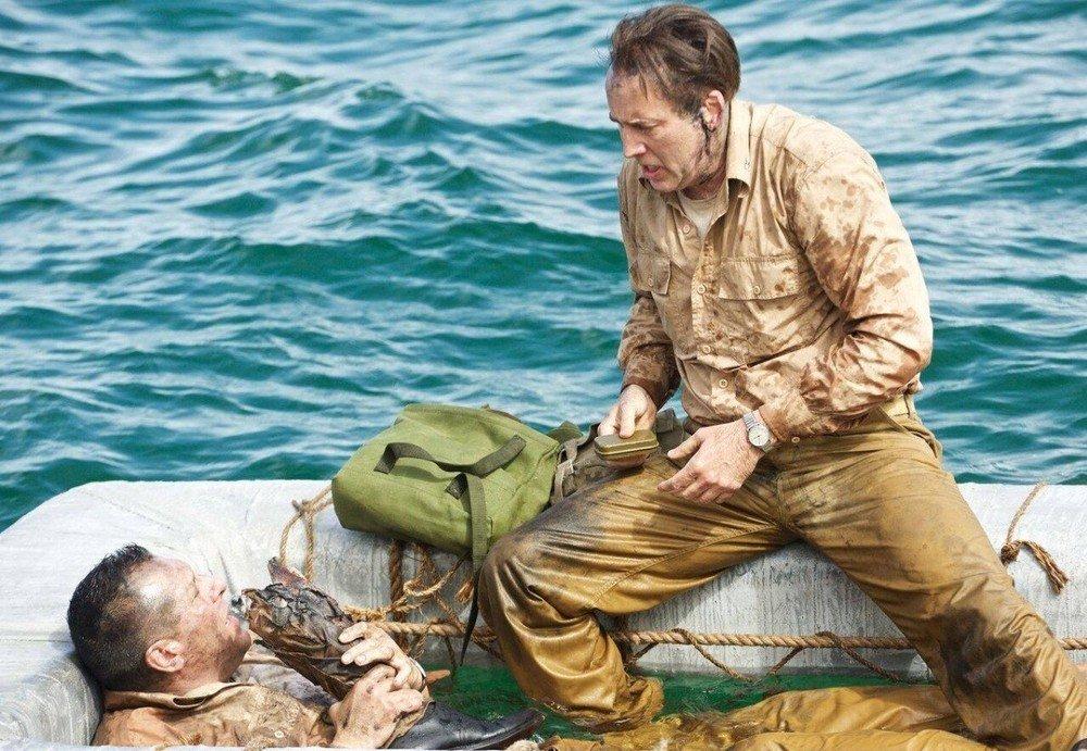 USS Indianapolis: Nicolas Cage in una scena del film