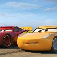 Cars 3: un'immagine del film d'animazione