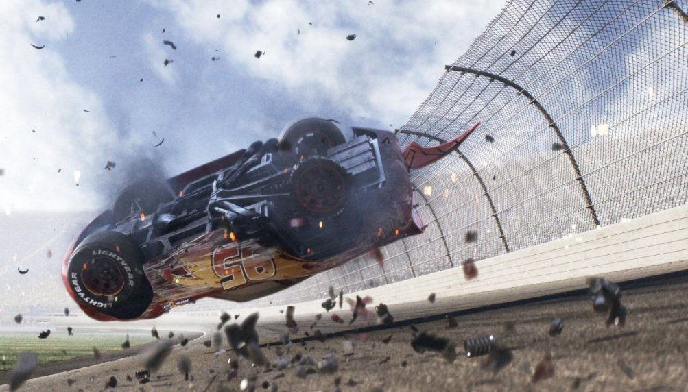 Cars 3: una scena del film animato