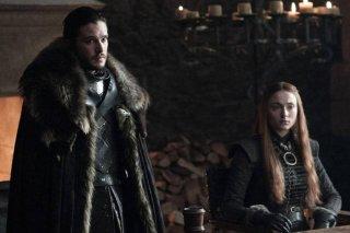 Il Trono di Spade: Kit Harington e Sophie Turner in una foto della settima stagione