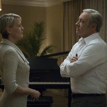 House of Cards 5: Kevin Spacey e Robin Wright in un'immagine della serie tv
