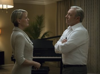 House of Cards 5: Kevin Spacey e Robin Wright in un'immagine della serie tv