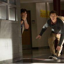 Spider-Man: Homecoming, Tom Holland e Jacob Batalon in un momento del film