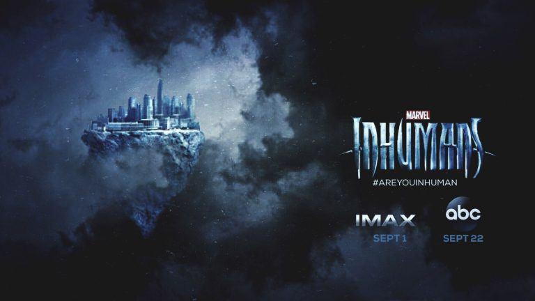 Inhumans: un banner pubblicitario dello show Marvel