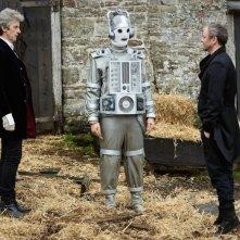 Doctor Who: Peter Capaldi e John Simm in una scena dell'episodio The Doctor Falls