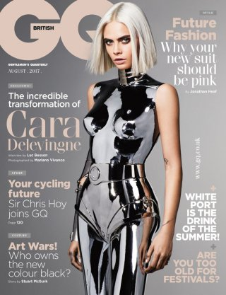 Cara Delevingne nella copertina di GQ