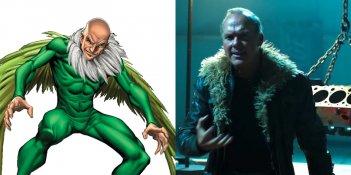 Spier-Man: Homecoming - Un confronto tra Michael Keaton e l'Avvoltoio a fumetti