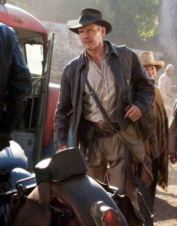 Harrison Ford in una sequenza del film Indiana Jones e il regno del Teschio di cristallo
