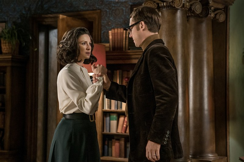 Caitriona Balfe Claire Randall Fraser Tobias Menzies Frank Randall Outlander Season 3