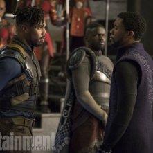 Black Panther: una foto degli attori Michael B. Jordan e Chadwick Boseman