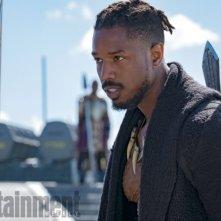 Black Panther: Michael B. Jordan in una foto del film