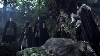 Il trono di spde: una scena dell'episodoio inaugurale Winter Is Coming