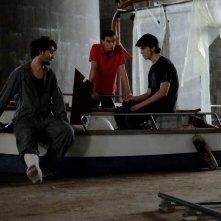 Gli asteroidi: Riccardo Frascari, Nicolas Balotti e Alessandro Tarabelloni in una scena