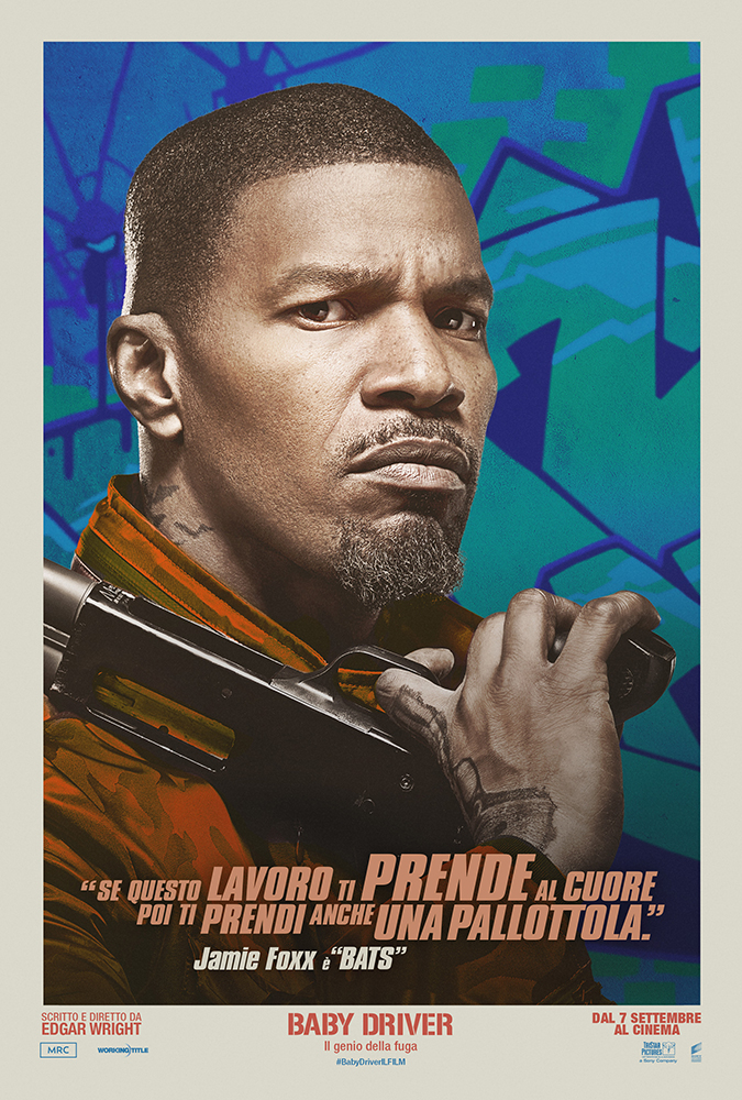 Baby Driver: character poster esclusivo con Jamie Foxx