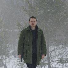 L'uomo di neve: Michael Fassbender in una scena del film