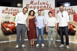 Motori ruggenti: il regista Marco Spagnoli e l'ex pilota Giancarlo Fisichella alla presentazione del documentario alla stampa
