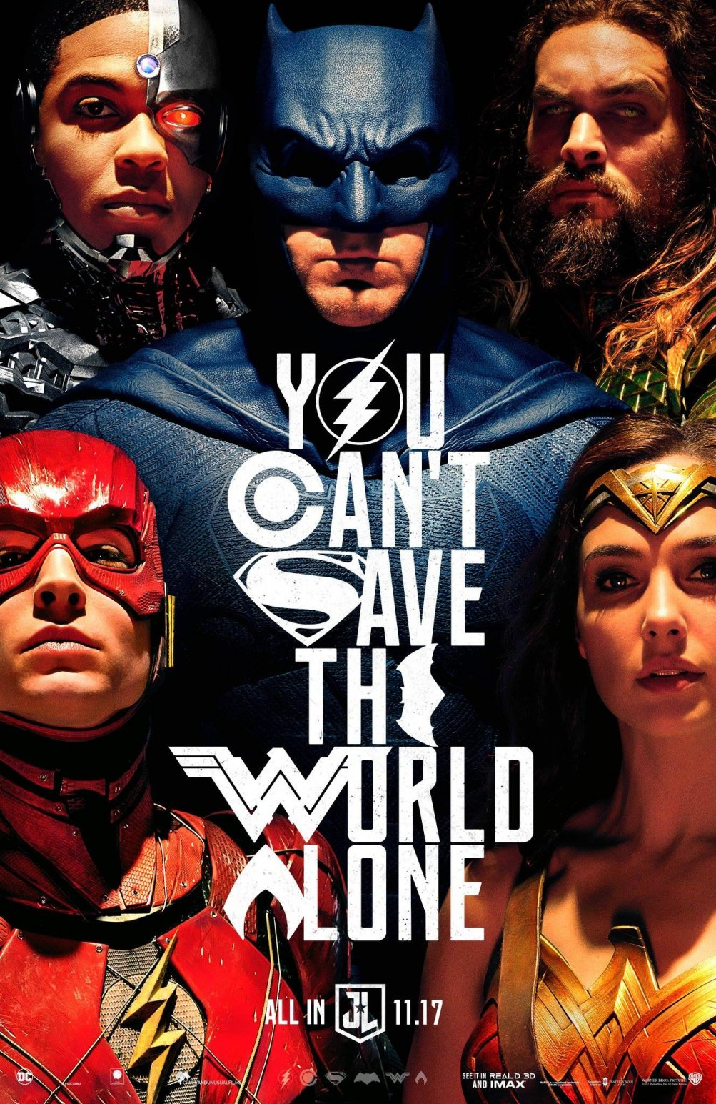 Justice League: il poster del Comic-Con
