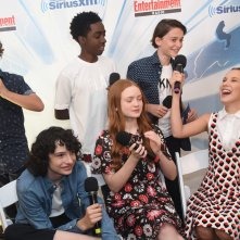 Gaten Matarazzo, Caleb McLaughlin, Noah Schnapp, Finn Wolfhard, Sadie Sink and Millie Bobby Brown al Comic-Con