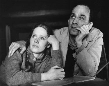 Ingmar Bergman e Liv Ullmann insieme in una foto