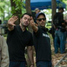 Leatherface: i registi Alexandre Bustillo e Julien Maury sul set del loro film