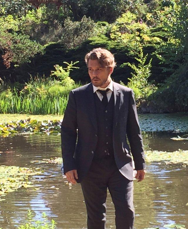 Richard Says Goodbye: Johnny Depp nella prima foto del film