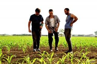 Veleno: Massimiliano Gallo, il regista Diego Olivares e Gennaro di Colandrea sul set del film
