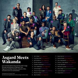 Black Panther, Thor: Ragnarok, i cast riuniti al San Diego Comic-Con