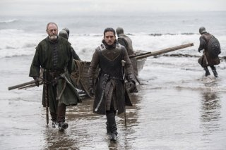 Il Trono di Spade: Liam Cunningham e Kit Harington in The Queen's Justice