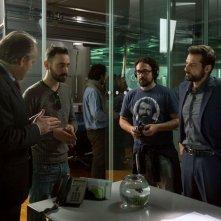 Il contagio: Daniele Coluccini e Matteo Botrugno sul set del film