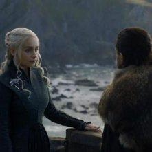 Il trono di spade: Emilia Clarke durante una scena dell'episodio La giustizia della Regina