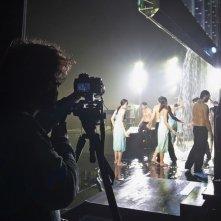 Aquagranda in crescendo: un'immagine dal set del film