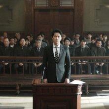 The Third Murder: Masaharu Fukuyama e Koji Yakusho in una scena del film