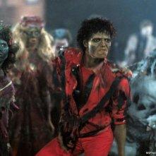 Thriller: Michael Jackson in un'immagine del videoclip